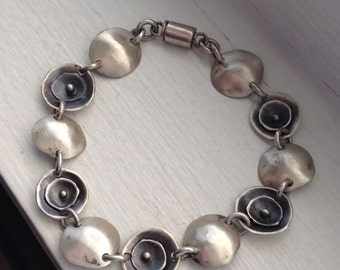 Sterling Silver Layered Circles Bracelet