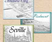 Custom Wedding Table Cards (5x7)  -- Personalized Using Your Cities, Animals, Flowers, Whatever