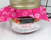 STRAWBERRY VANILLA Jam & Glaze - delicious made with Splenda more fruit, gourmet Mexican pure white vanilla awesome flavor Agave Honey
