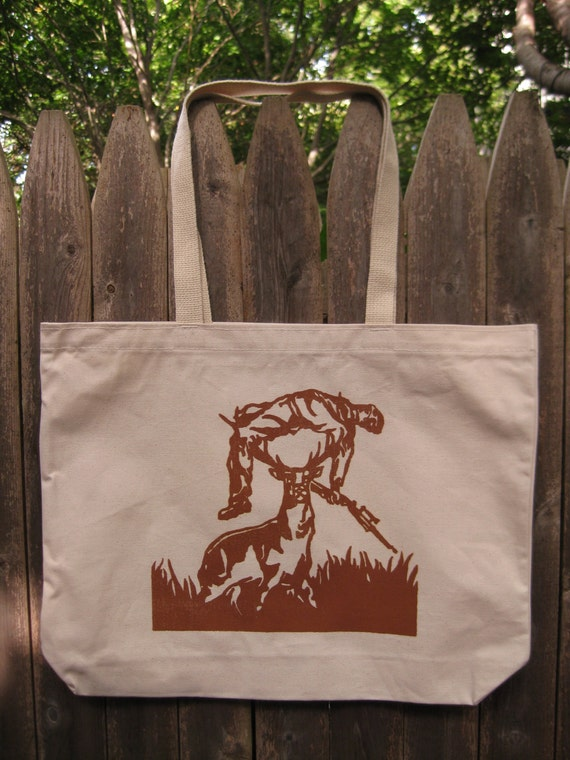 Deer vs Hunter: Organic Canvas Tote