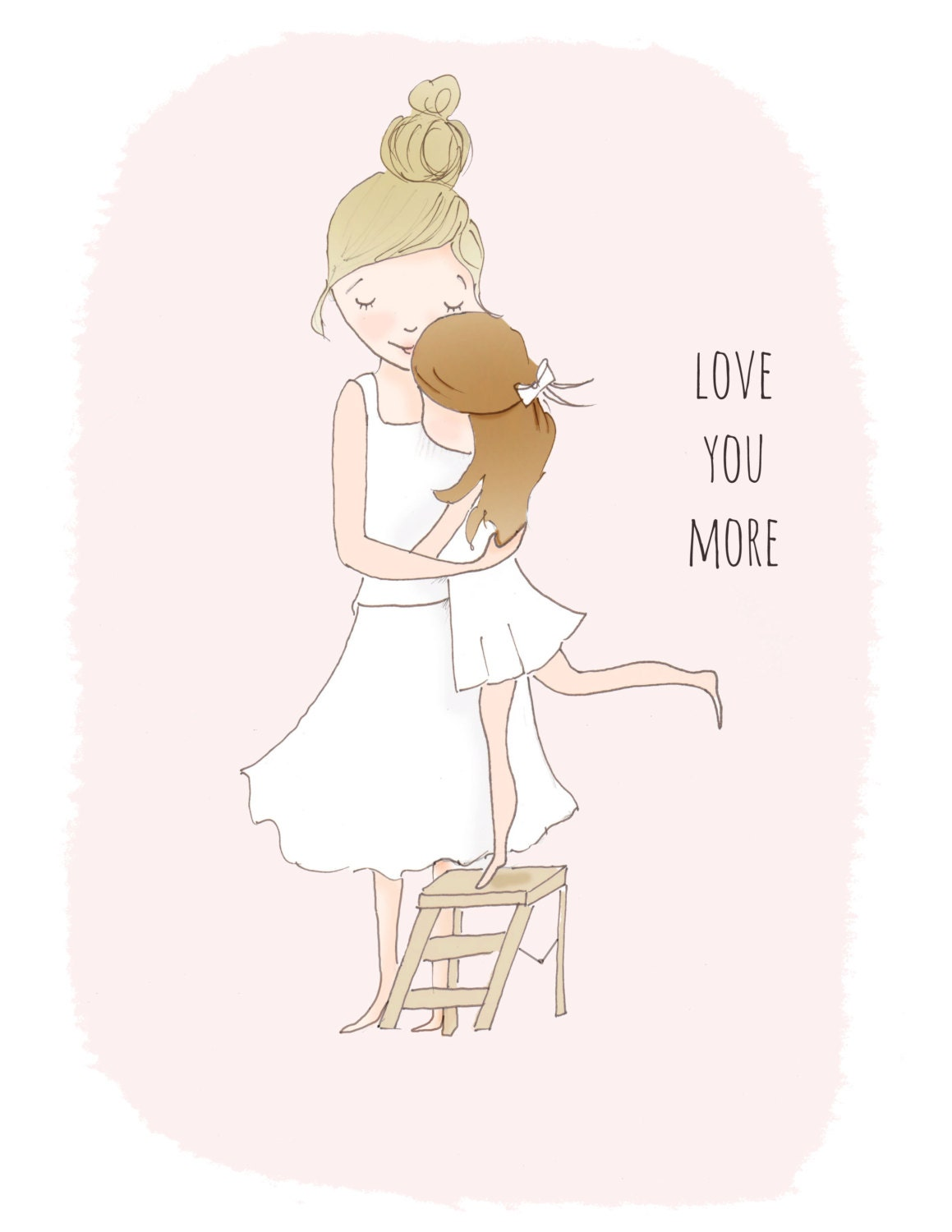 Wall Art Love You More : Childrens wall art love you more pretty for