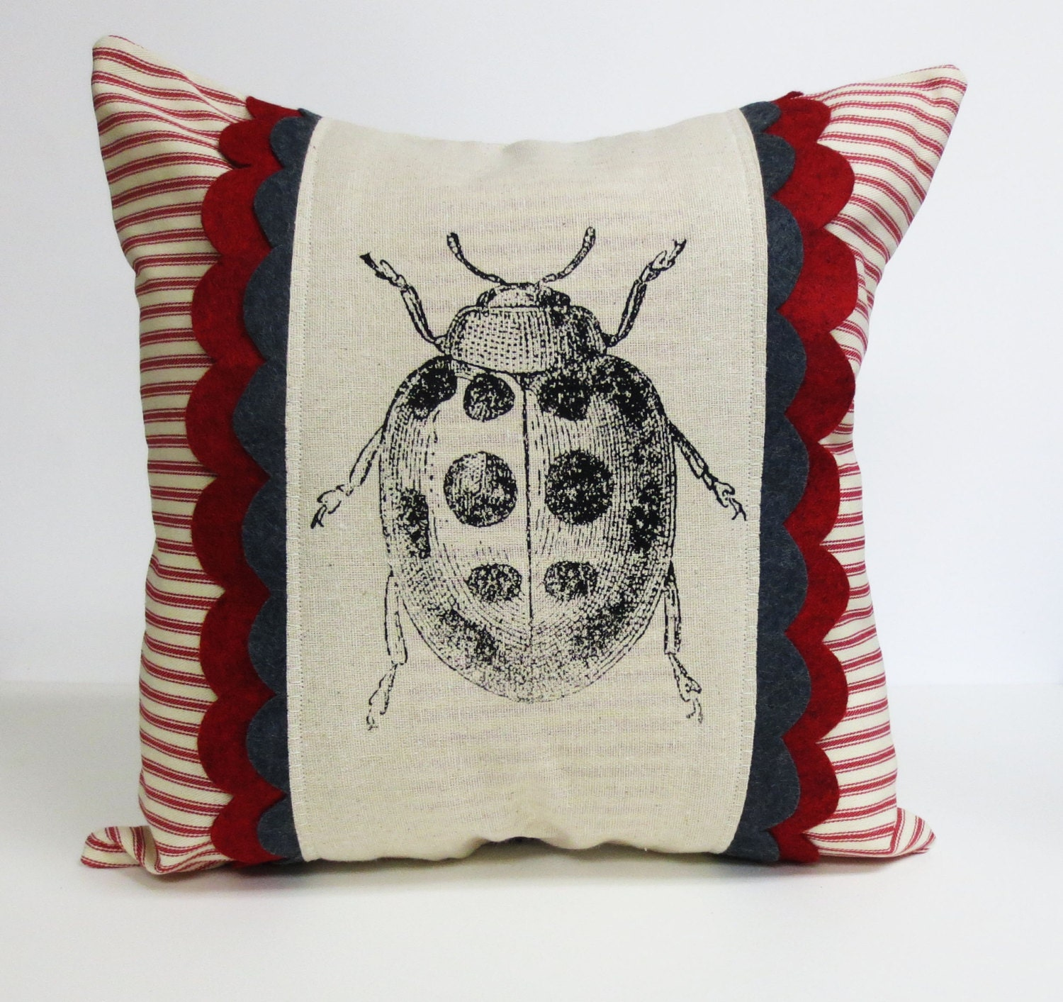 Throw Out Pillows Bed Bugs : Decorative throw pillow cushion cover with lady bug screen