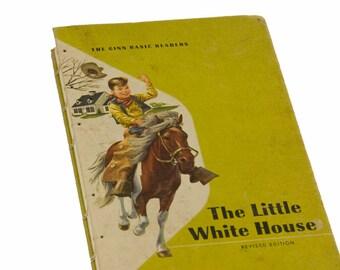 1957 WHITE HOUSE Vintage Children's Notebook Journal Scrapbook