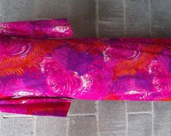 1960s or 1970s Long Hawaiian Dress Hawaiian Hostess Dress, Size Medium,  No.  26396