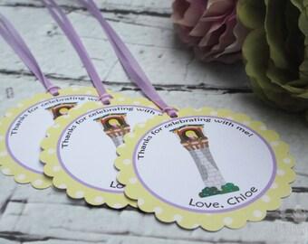 Rapunzel Princess Party Custom Favor Tags - Let Down Your Hair Collection