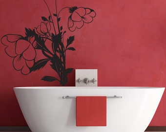 Vinyl Wall Decal Sticker Droopy Flowers 1259m