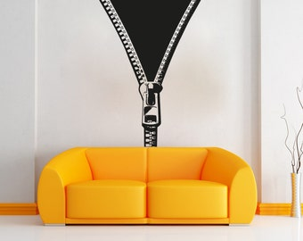 Vinyl Wall Decal Sticker Opening Zipper OSAA1339s