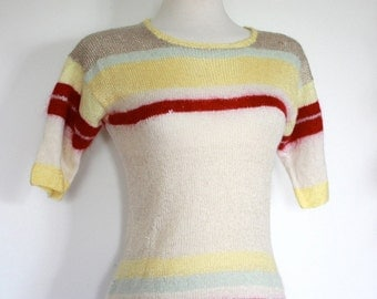 Vintage 1970's Striped Wool Sweater // That 70's Show