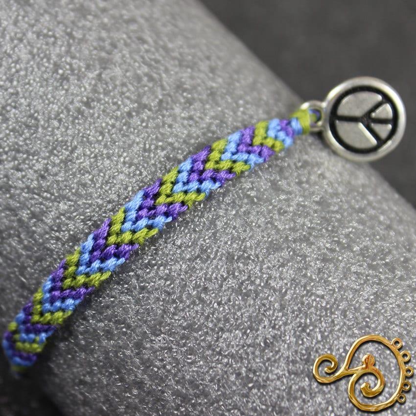 how to make peace sign friendship bracelet