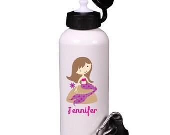 Personalized Mermaid Water Bottle BPA Free Aluminum
