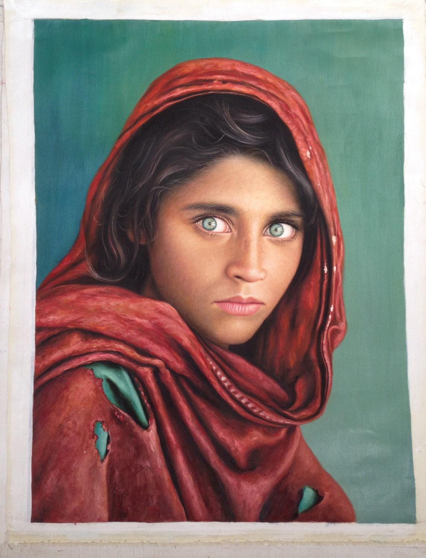 Green Eyes Oil Painting