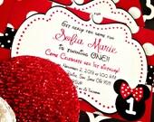 Minnie Polka Dot  Birthday Invitation {Printable}