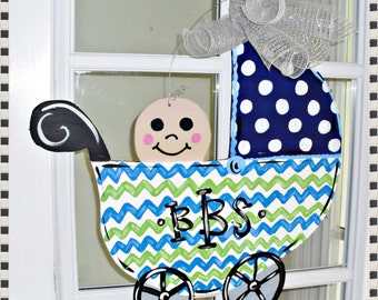 Baby Hospital Door Nursery Wood Cut Out Door Hanger