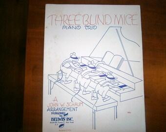 Three Blind Mice Sheet Music Piano Trio Belwin