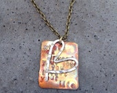 """MUMFORD & SONS """"Where you invest your love, you invest your life""""- necklace"""