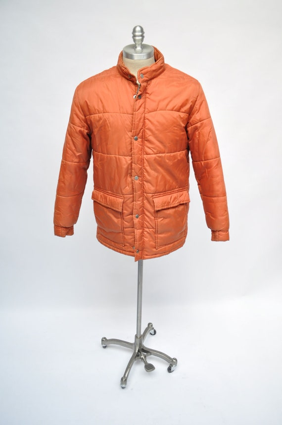 vintage jacket 1970s outdoor gear puffer coat by