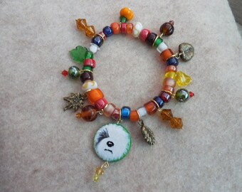 Fall Old English Sheepdog Bracelet