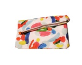 Infinite Candies Abstract Zipper Clutch - Ready To Ship