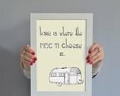Mac N Cheese Print: Home Is Where The Mac N Cheese Is