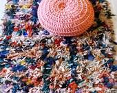 "Vintage Moroccan Rag Rug - BOUCHEROUITE ""color mix"""