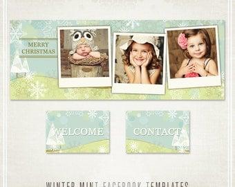 Winter Mint Facebook Templates