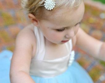 Pearl Headband--Flower Girl--Pearl Headpiece--Perfect for Weddings