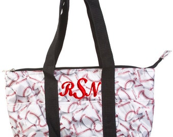 Personalized Insulated Lunch Tote Baseball Design