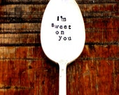 I'm Sweet On You COFFEE SPOON. The Original Hand Stamped Vintage Coffee & Espresso Spoons™  by Sycamore Hill. Honey Spoon. Sugar Spoon. Gift