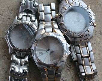 Wrist watch bracelets with empty cases -- set of 3