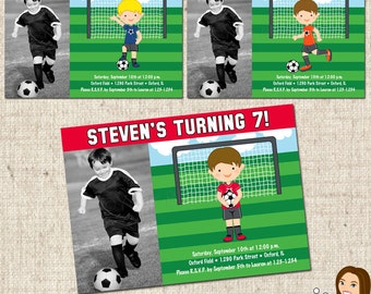 PRINTABLE Boy Soccer Party Invitation #584