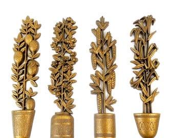 Set of 4 Topiary Wall Hangings