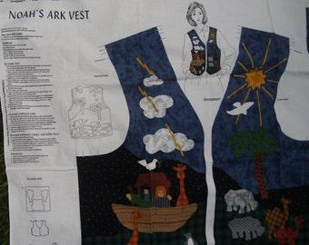 Noah's Ark Panel Vest cut out panel