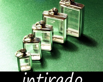 Terrarium Necklace, Intirado, Shadow Box Pendants, Lockets, Reliquary, Craft Display Cases, Diorama, Supplies, Silver tone Metal, 5pcs