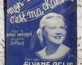 1940's French Song / Sheet Music - Mon Souvenir, C'est Ma Chanson (My Souvenir Is My Song)