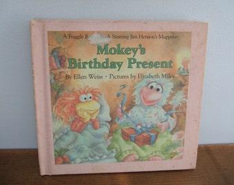 Vintage Fraggle Rock Book - Mokey's Birthday Present