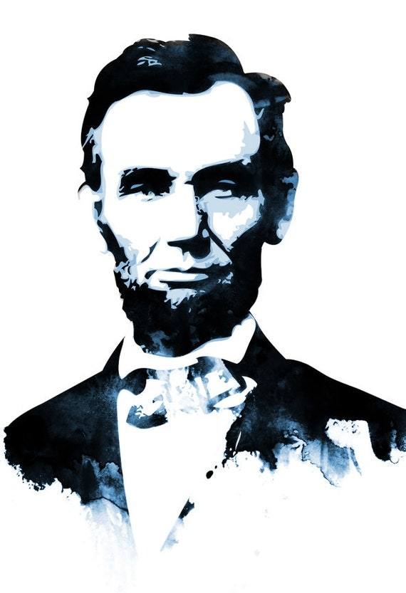 Abraham lincoln american president by mediagraffitistudio for Black and white celebrity prints