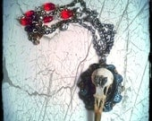 Mercy's Envy Choker Victorian Gothic Jewelry/ Taxidermy Jewelry/  Free coffin box