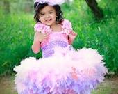 Pretty In Pink Ballerina Girls Feather Dress