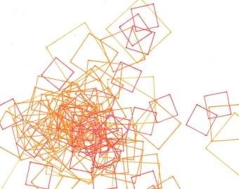 """Repeat 11, small, abstract, original, 8"""" x 10""""  drawing"""