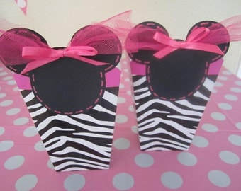 Sale for Set of 8 MINNIE MOUSE  ZEBRA Party Favors