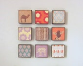 moroccan nursery art- set of 9-5x5 art blocks-kids room decor-geometric wall art-art for a nursery babys room-redtilestudio