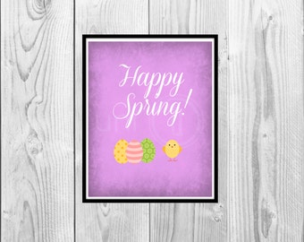 Digital Art: Spring Decor, Easter Poster,Home Decor, 8x10 Print, INSTANT DOWNLOAD