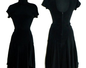 Vinage Black backless dress