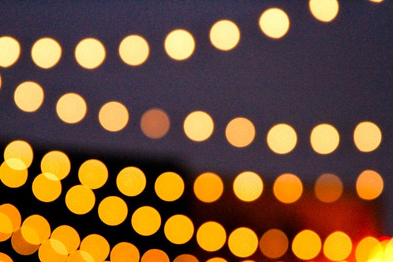 String Lights At Night : Items similar to Bokeh String Lights at Night 8x10 Fine Art Photography Print Home Decor Wall ...