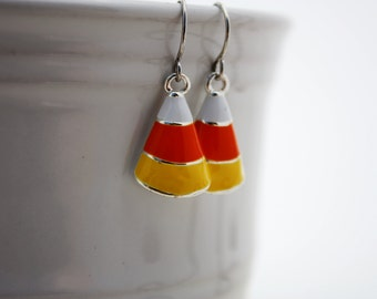 Candy Corn Earrings Halloween Jewelry Candy Corn Jewelry Halloween Earring Fall Jewelry Autumn Jewelry Holiday Jewelry Halloween Costume 025