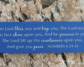 Custom sign - Bible verse sign - The Lord bless you and keep you... Numbers 6:24-26  - Wood Sign, custom sign, scripture