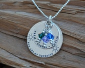 Personalized Jewelry Necklace for Mom Jewelry for Her Stamped Kids Names Wife Gift Christmas Jewelry Sterling Silver Personalized Discs