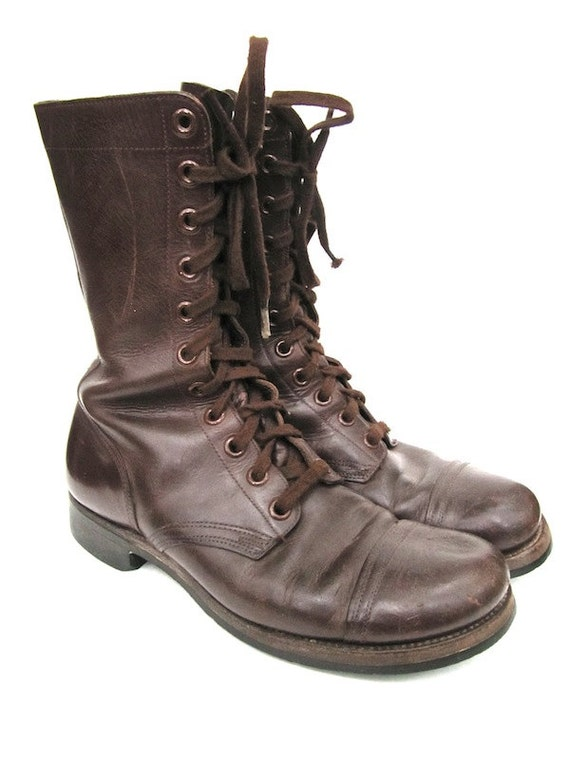 endicott johnson brown combat boots mens size 9 5 r
