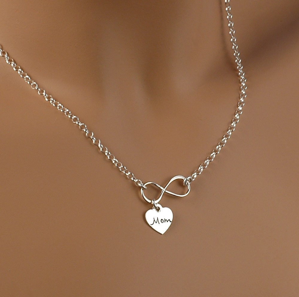 infinity necklace with charm infinate