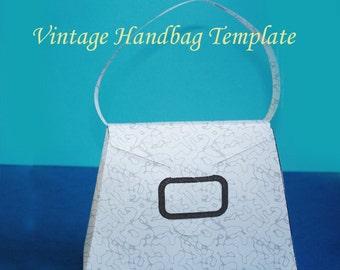 Printable Jewelry Vintage Handbag Template
